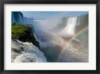 Framed Brazil, Foz do Iguacu Waterfall