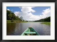 Framed Dugout canoe, Boat, Arasa River, Amazon, Brazil