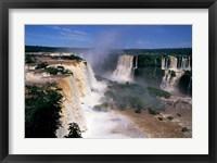 Framed Iguacu Falls, Brazil (horizontal)