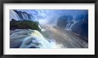 Framed Igwacu River, Brazil