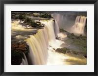 Framed Towering Igwacu Falls Thunders, Brazil