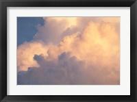Framed Sunset clouds over Amazon basin, Peru