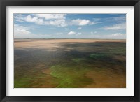 Framed Brazil, Amazon River, Algae bloom