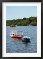 Framed Fishing boats, Amazon, Brazil