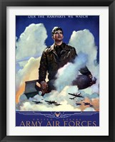 Framed United States Army Air Forces