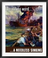 Framed Careless Word, A Needless Sinking