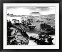 Framed Wreckage During The Battle of Iwo Jima