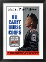 Framed US Cadet Nurse Corps - A Lifetime Education Free
