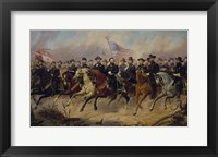 Framed Ulysses S Grant and His Generals on Horeback
