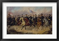 Framed Ulysses S Grant and His Generals on Horeback