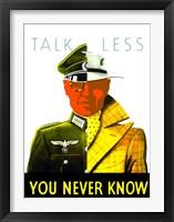 Framed Talk Less
