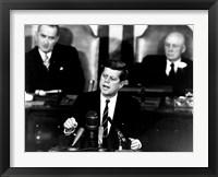Framed President John F Kennedy