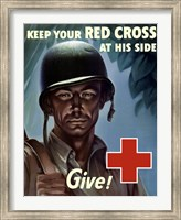 Framed Keep Your Red Cross at His Side