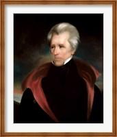 Framed President Andrew Jackson