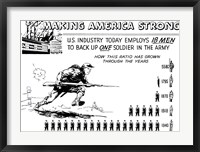 Framed Making America Strong - 18 Men to Back One Soldier