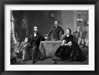 Framed President Abraham Lincoln and His Family