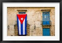 Framed Plaza de la Catedral, Old Havana, Cuba