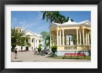 Framed Gazebo in center of downtown, Santa Clara, Cuba