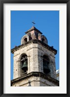 Framed Havana, Cuba Steeple of church in downtowns San Francisco Plaza