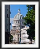 Framed Capitol building, Havana, UNESCO World Heritage site, Cuba