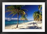 Framed Tropical Beach on Isla de la Juventud, Cuba