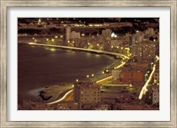 Framed Malecon at Night, Havana, Cuba