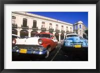 Framed Classic Cars, Old City of Havana, Cuba