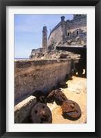 Framed Thick Stone Walls, El Morro Fortress, La Havana, Cuba