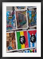 Framed Cuba, Havana, Craft market souvenirs