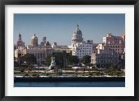 Framed Cuba, Havana, Elevated City View
