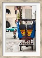 Framed Cuba, Havana, Havana Vieja, pedal taxi