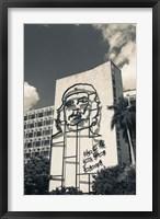 Framed Cuba, Havana, Interior Ministry, Che Guevara