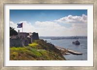 Framed Cuba, Havana, La Cabana, Fortification