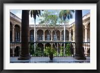 Framed Cuba, Havana, Museo de la Ciudad museum, courtyard