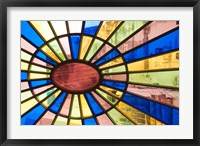 Framed Cuba, Havana, Palacio de la Artesania, glass
