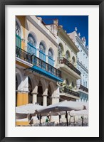 Framed Cuba, Havana, Plaza Vieja, renovated buildings