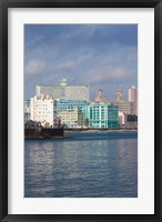 Framed Cuba, Havana, Vedado, Buildings along the Malecon
