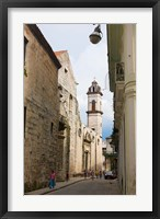 Framed Cathedral of Havana in the historic center, UNESCO World Heritage site, Cuba