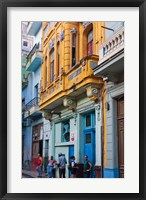 Framed Old house in the historic center, Havana, UNESCO World Heritage site, Cuba