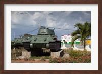 Framed Cuba, Bay of Pigs, T-34 tank