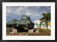 Framed Cuba, Bay of Pigs, T-34 tank