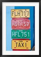 Framed Cuba, Sancti Spiritus, Trinidad, souvenir license