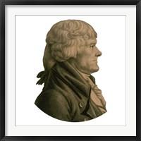 Framed Digitally Restored Portrait of Thomas Jefferson (sepia toned)