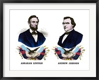 Framed Campaign Poster of Abraham Lincoln and Andrew Johnson
