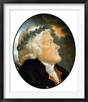 Framed Digitally Restored Vector Artwork of Thomas Jefferson (color)