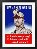 Framed I Have a Real War Job