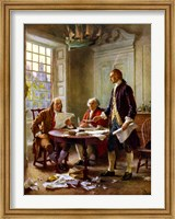 Framed Writing of the Declaration of Independence