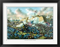 Framed Civil War Print Depicting the Union Army's Capture of Fort Fisher