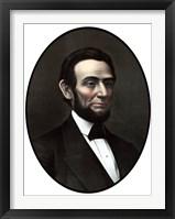 Framed Vintage Civil War Era Artwork of President Abraham Lincoln