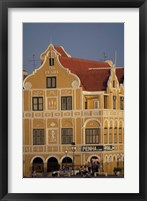 Framed Penha and Sons Building, Willemstad, Curacao, Caribbean